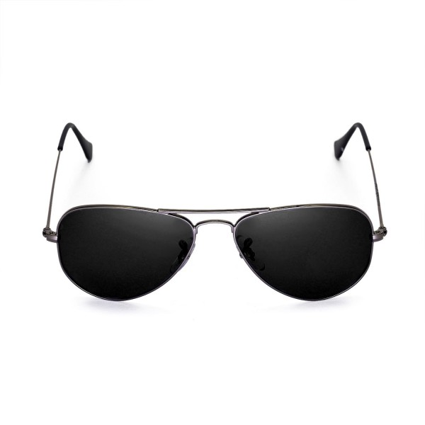 6ac69b4698 New Walleva Polarized Black Lenses For Ray-Ban Aviator RB3044 Small Metal  52mm