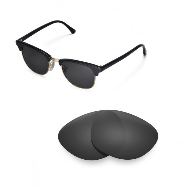 New Walleva Black Polarized Replacement Lenses For Ray-Ban ... b3eb0a4f6c9b