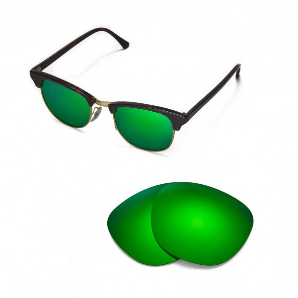 New Walleva Emerald Polarized Replacement Lenses For Ray-Ban ... 13c3683c817e