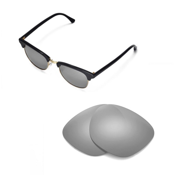 3eacb2b316 ... Replacement Lenses For Ray-Ban Clubmaster RB3016 49mm Sunglasses. Color    Polarized Lenses   Titanium