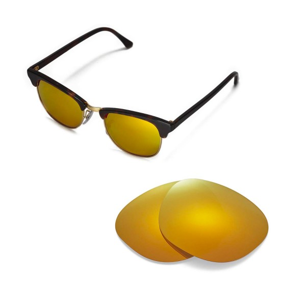 2fc7e99017 New Walleva 24K Gold Polarized Replacement Lenses For Ray-Ban ...