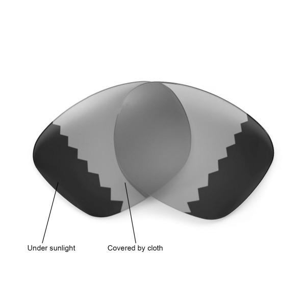f72e7c86205 Walleva Polarized Transition Photochromic Lenses For Ray-Ban Wayfarer RB2140  50mm
