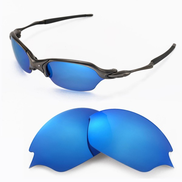 9ca12d27dec Walleva Replacement Lenses for Oakley Romeo 2.0 Sunglasses - Multiple  Options Available (Ice Blue Coated - Polarized)