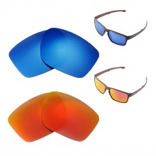 53d49d1ff4 New Walleva Fire Red + Ice Blue Polarized Replacement Lenses For Oakley  Sliver F Sunglasses