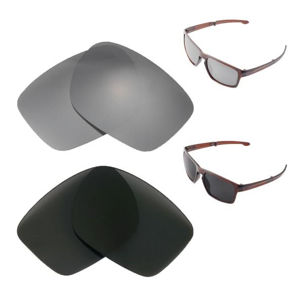 26941efae13 New Walleva Titanium + Black Polarized Replacement Lenses For Oakley Sliver  F Sunglasses
