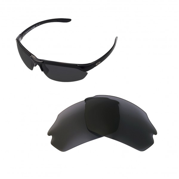 3def37e5c4 New Walleva Black Polarized Replacement Lenses For Smith Parallel ...
