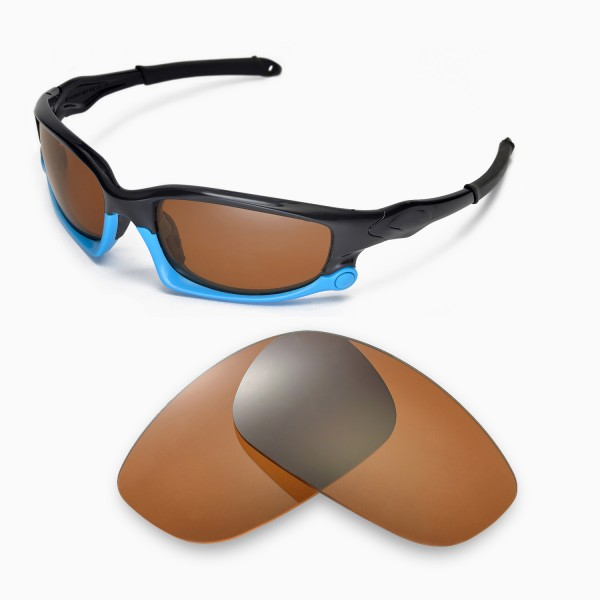a330c9d3aa1 Walleva Polarized Brown Replacement Lenses for Oakley Split Jacket ...
