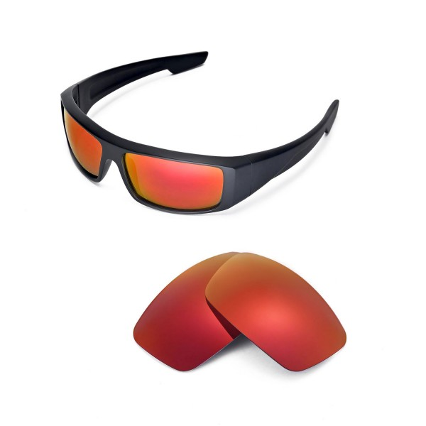 bb672ba5a7b Walleva Polarized Fire red Lenses For Spy Optic Logan Sunglasses