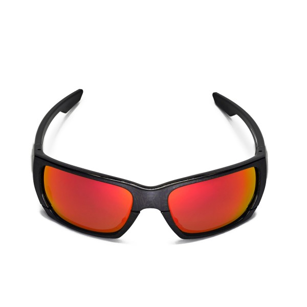 1dc81864820 Walleva Polarized Fire Red + Ice Blue Lenses For Oakley Style Switch  Sunglasses. Color