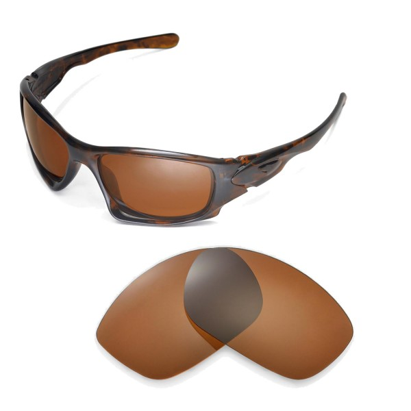 c18f3038f82 Walleva Polarized Brown Replacement Lenses for Oakley Ten ...