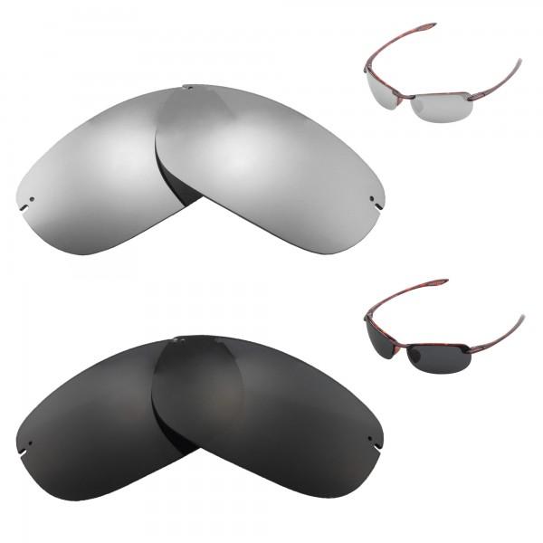 d60c9d09a49d ... Black Polarized Replacement Lenses For Maui Jim Makaha Sunglasses. Color  : :