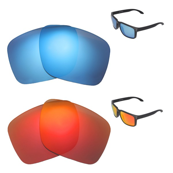 ce9bc65d3a1ba ... Ice Blue Polarized Replacement Lenses For Oakley Holbrook XL Sunglasses.  Color