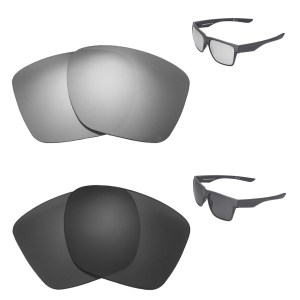 3f13be52e73 New Walleva Titanium + Black Polarized Replacement Lenses For Oakley  TwoFace XL Sunglassess. Color