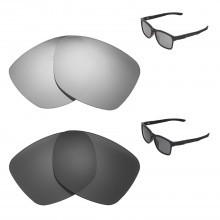 23158bcb0cd85 New Walleva Titanium + Black Polarized Replacement Lenses For Oakley  Catalyst Sunglassess