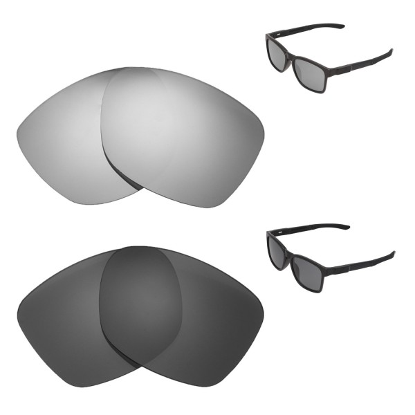 740fcf9b83 New Walleva Titanium + Black Polarized Replacement Lenses For Oakley  Catalyst Sunglassess