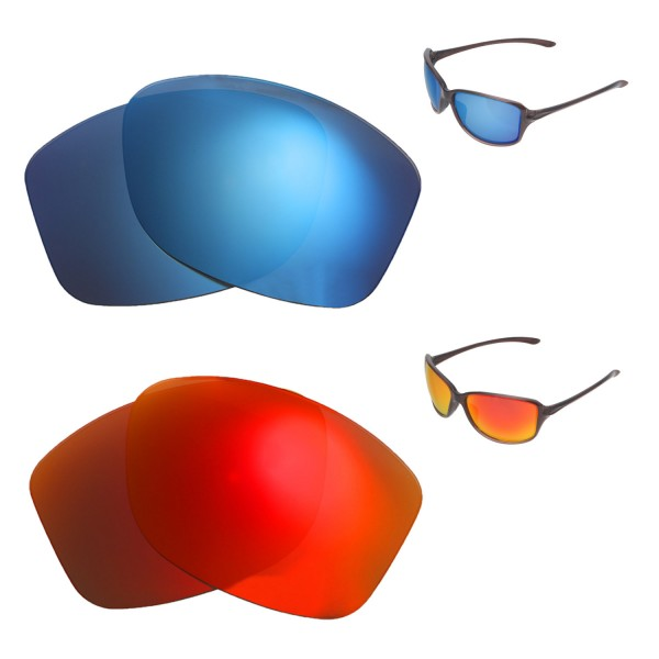 59caf22ed5 New Walleva Fire Red + Ice Blue Polarized Replacement Lenses For ...
