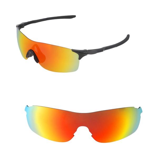 c035f301de New Walleva Fire Red Polarized Replacement Lenses For Oakley EVZero Pitch  Sunglasses