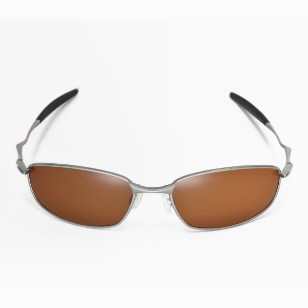 5649ebbc1f Walleva Replacement Lenses for Oakley Whisker Sunglasses - Multiple Options  Available (Brown Mirror Coated - Polarized)