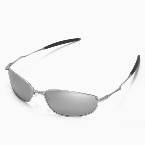 74c048fb1e Walleva Replacement Lenses for Oakley Whisker Sunglasses - Multiple Options  Available (Titanium Mirror Coated - Polarized)