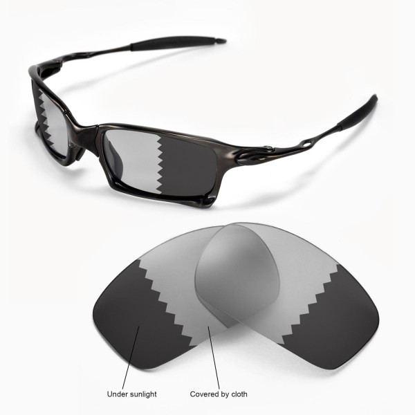 f4bc1bc7ee Walleva Polarized Transition Photochromic Replacement Lenses for Oakley X  Squared Sunglasses. Color   Polarized Lenses   Transition
