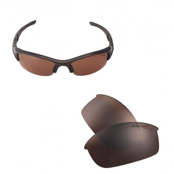 d0910a8f80 ... Oakley Flak Jacket Sunglasses. Color   Mr. Shield Polarized Lenses    Brown