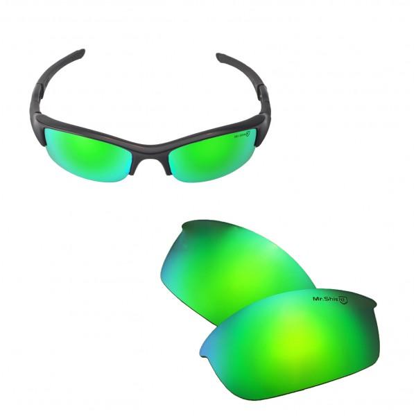 54ada33392 ... Oakley Flak Jacket Sunglasses. Color   Mr. Shield Polarized Lenses    Emerald