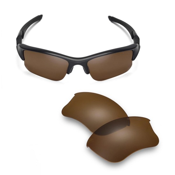 4d96ac03189 Walleva Brown Mr.Shield Polarized Replacement Lenses for Oakley ...