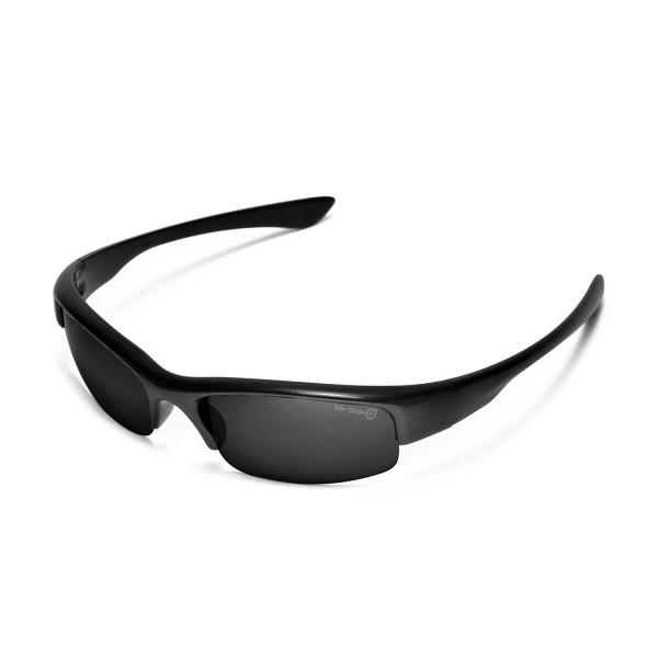 e082db6f16b2e Walleva Mr.Shield Polarized Black Replacement Lenses for Oakley Bottlecap  Sunglasses