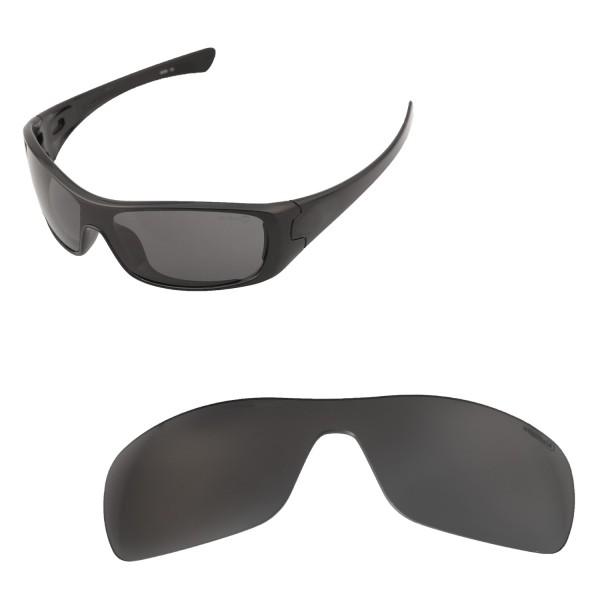 Walleva Mr Shield Polarized Black Replacement Lenses For