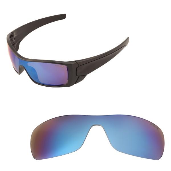 Oakley Batwolf Lenses >> Walleva Mr Shield Polarized Ice Blue Replacement Lenses For Oakley