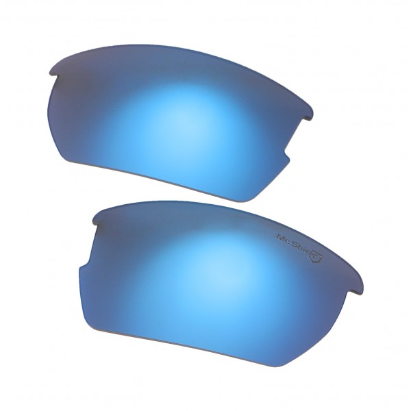 1c81ec66c5 Walleva Mr.Shield Ice Blue Polarized Replacement Lenses for Oakley Wiley X  Valor Sunglasses