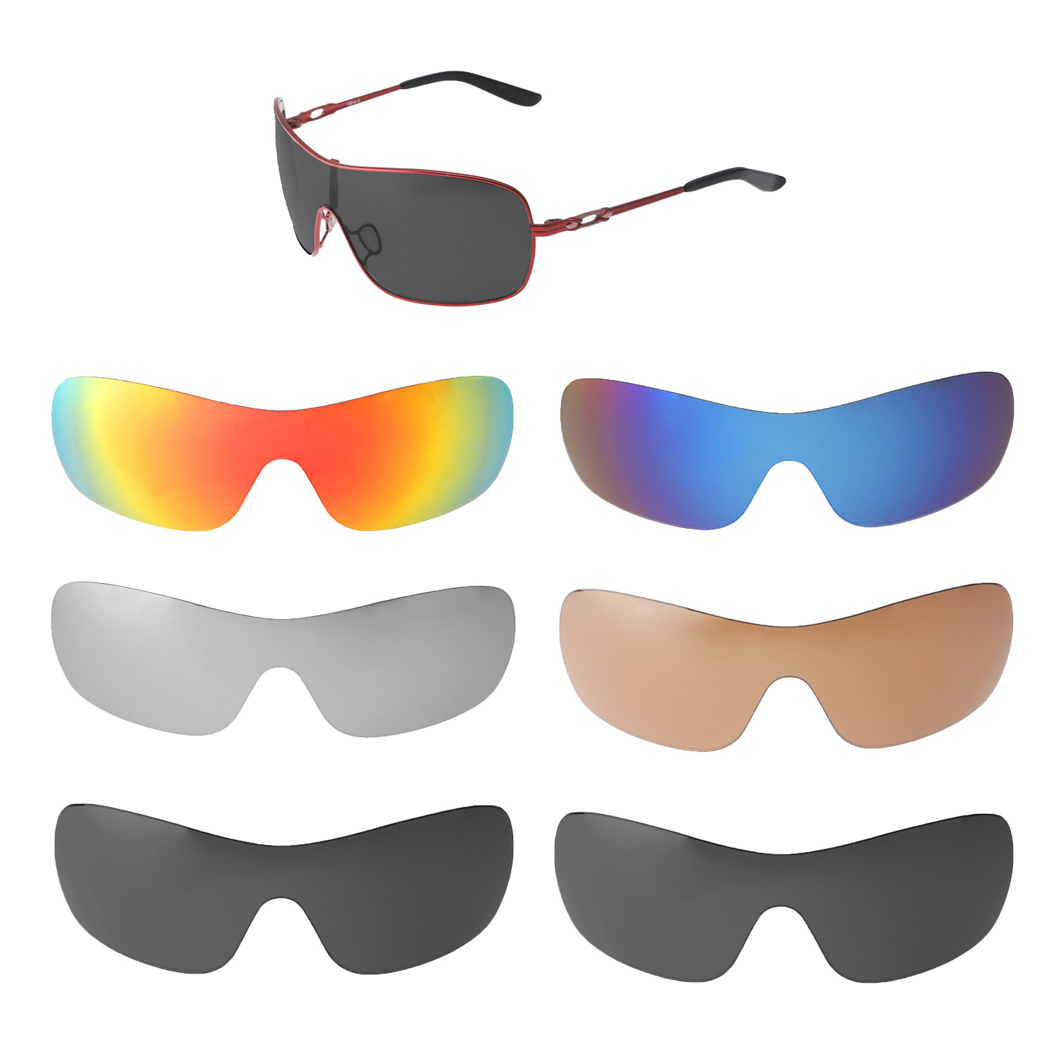 5c04fb8791 Details about Walleva Replacement Lenses for Oakley Distress Sunglasses -  Multiple Options