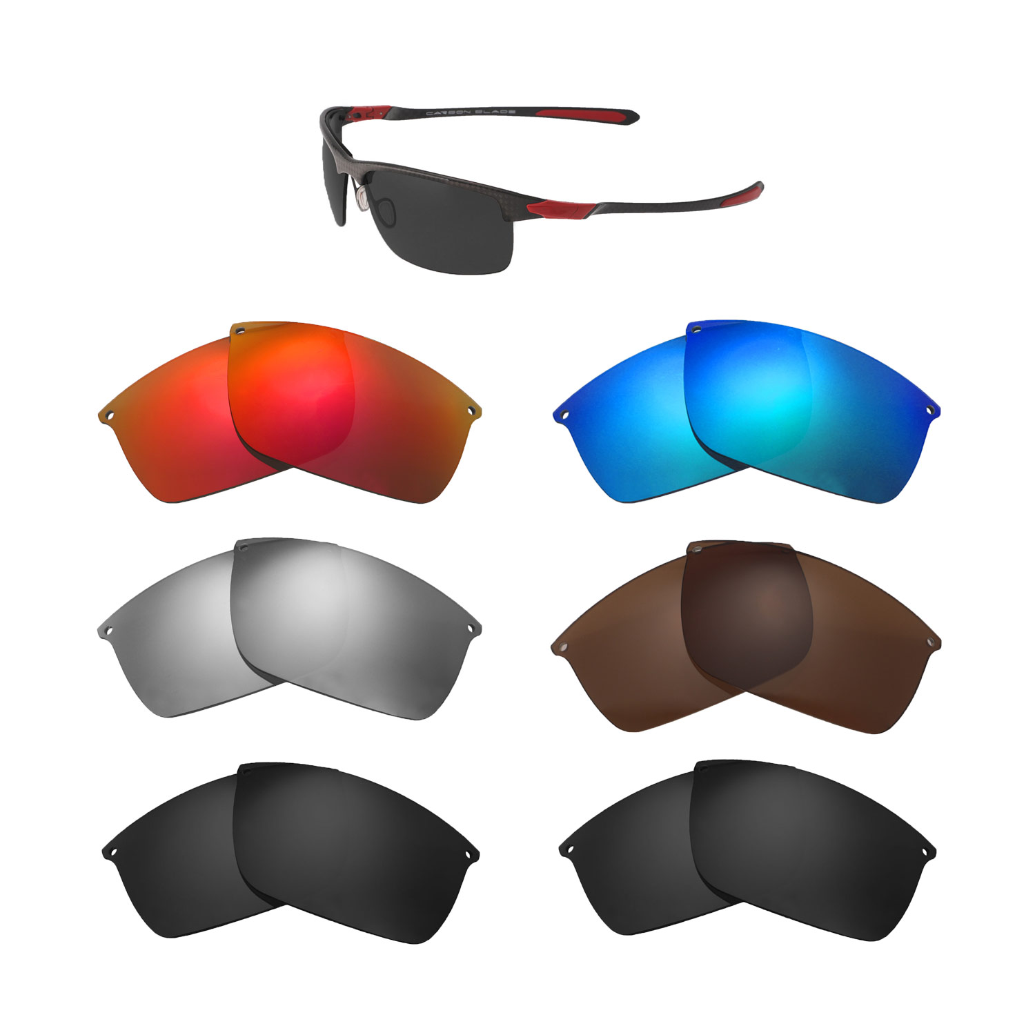 740525fb683 Details about Walleva Replacement Lenses For Oakley Carbon Blade Sunglasses-  Multiple Options
