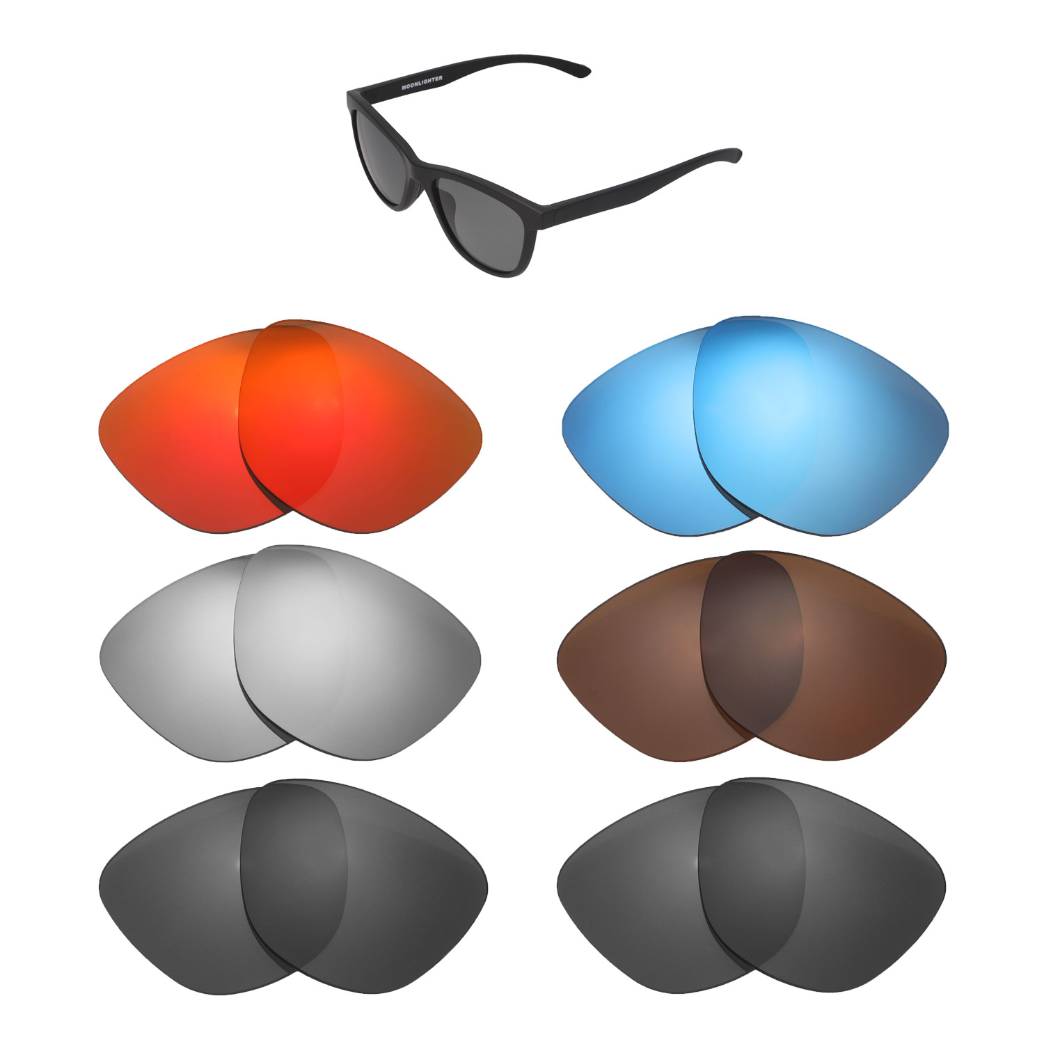ccd6e7eb0fe1f Details about Walleva Replacement Lenses for Oakley Moonlighter Sunglasses  - Multiple Options