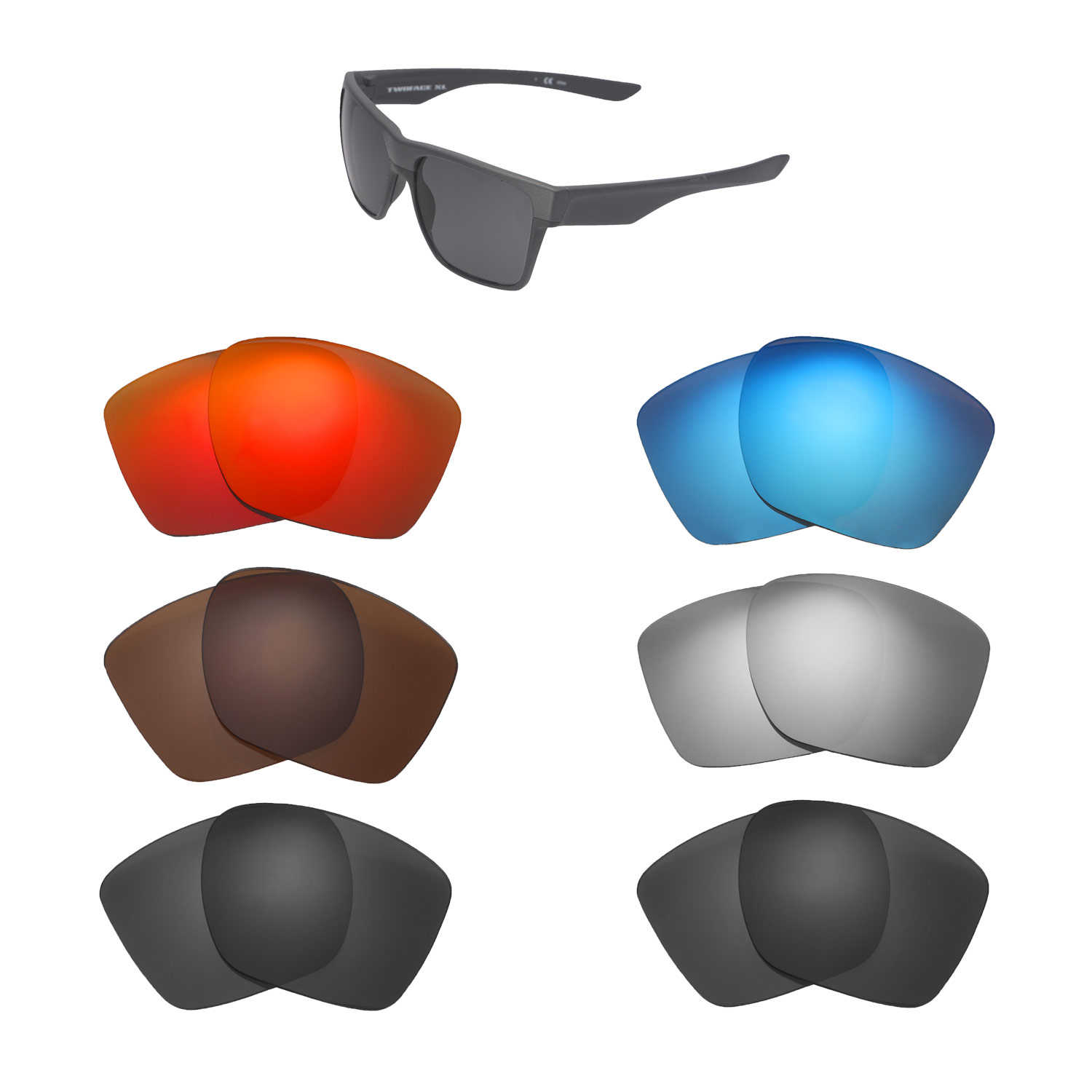 1f47e61452 Details about Walleva Replacement Lenses for Oakley TwoFace XL Sunglasses - Multiple  Options
