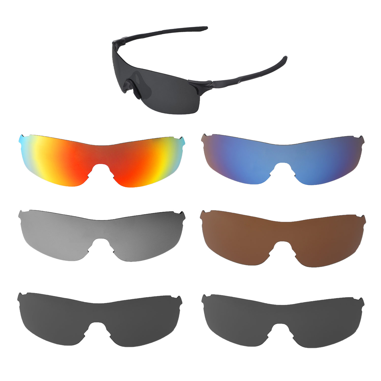 76d30383948 Details about Walleva Replacement Lenses for Oakley EVZero Pitch - Multiple  Options