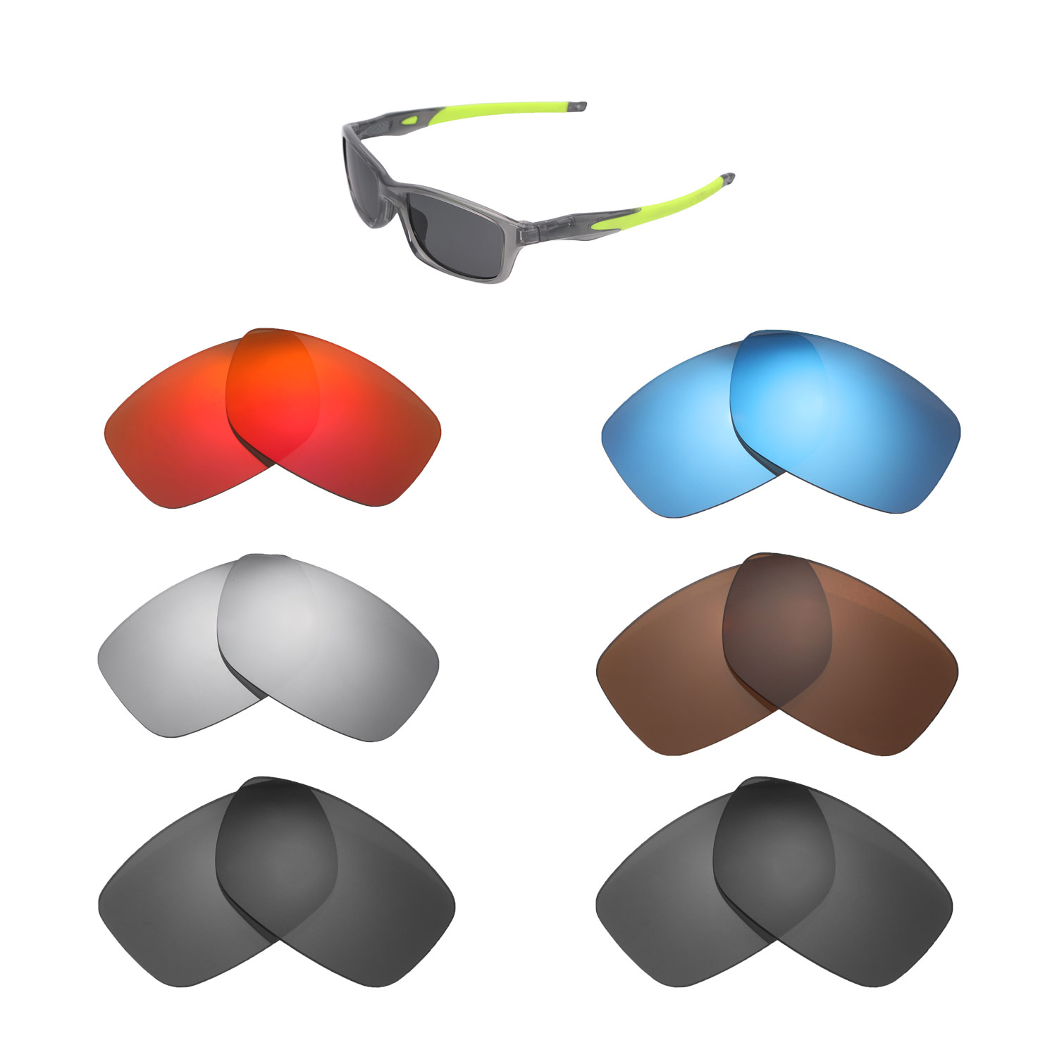 97591733bc Details about New Walleva Lenses for Oakley Crosslink 55 (OX8030 Series) - Multiple  Options