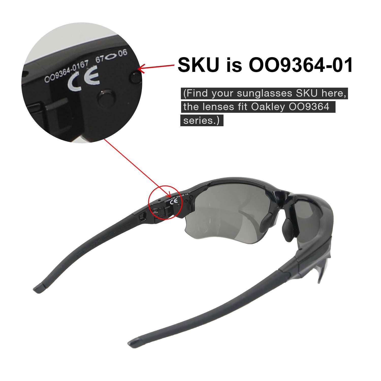 d7aee94461 Walleva Replacement Lenses for Oakley Flak Draft Sunglasses Multiple ...