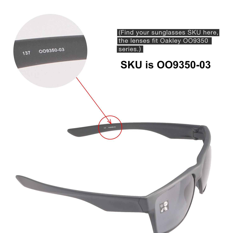 85e21b62e6 Walleva Fire Red Polarized Replacement Lenses For Oakley TwoFace XL ...