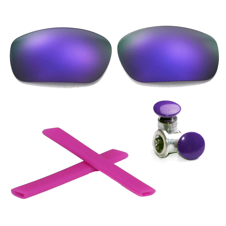 0c316652ab Details about Walleva Polarized Purple Lenses + Earsocks + Bolts For Oakley  Jawbone
