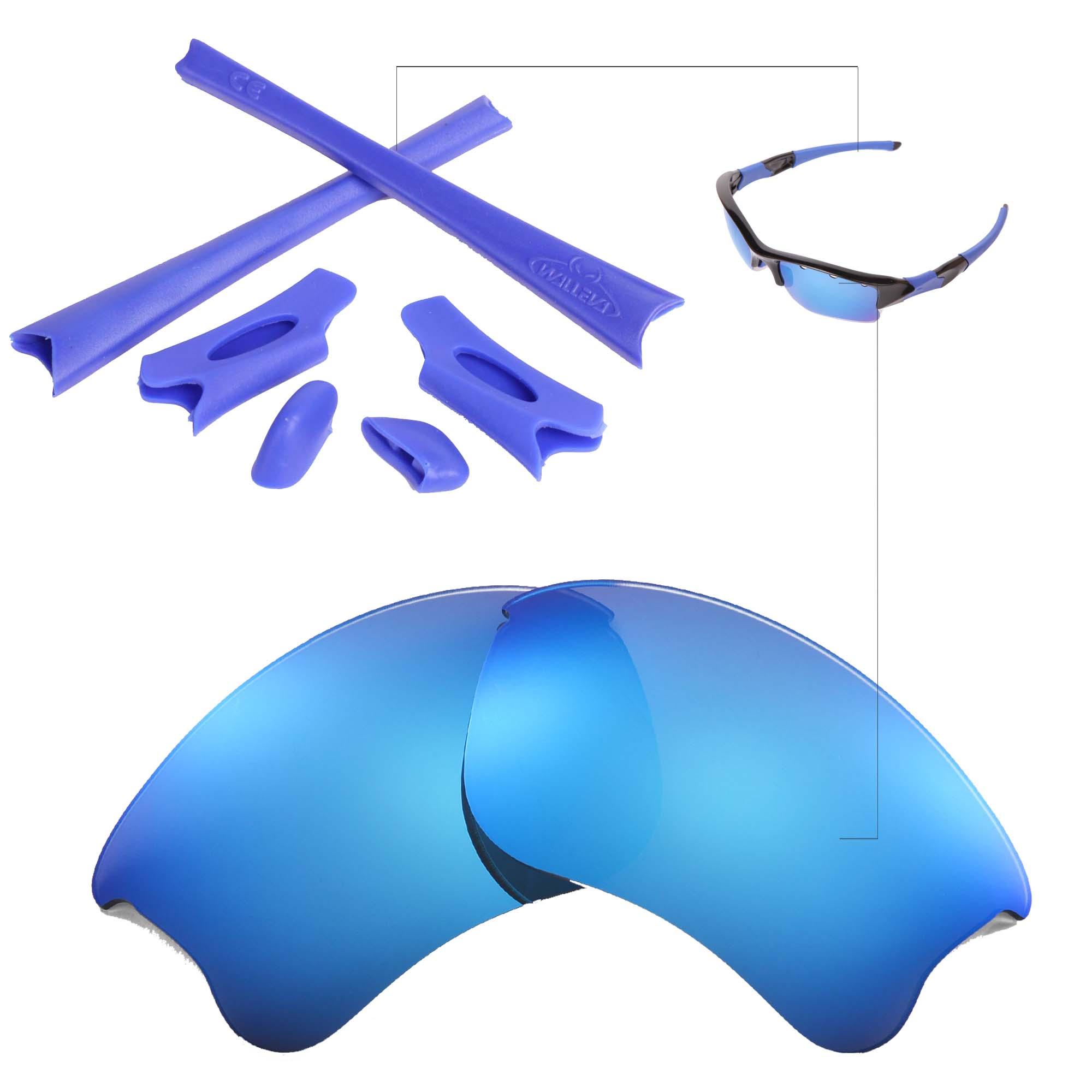 de7a8d6d41 Detalles acerca de Nuevo walleva Lentes de hielo Azul Y Goma Kit Para  Oakley Flak Jacket Xlj- mostrar título original