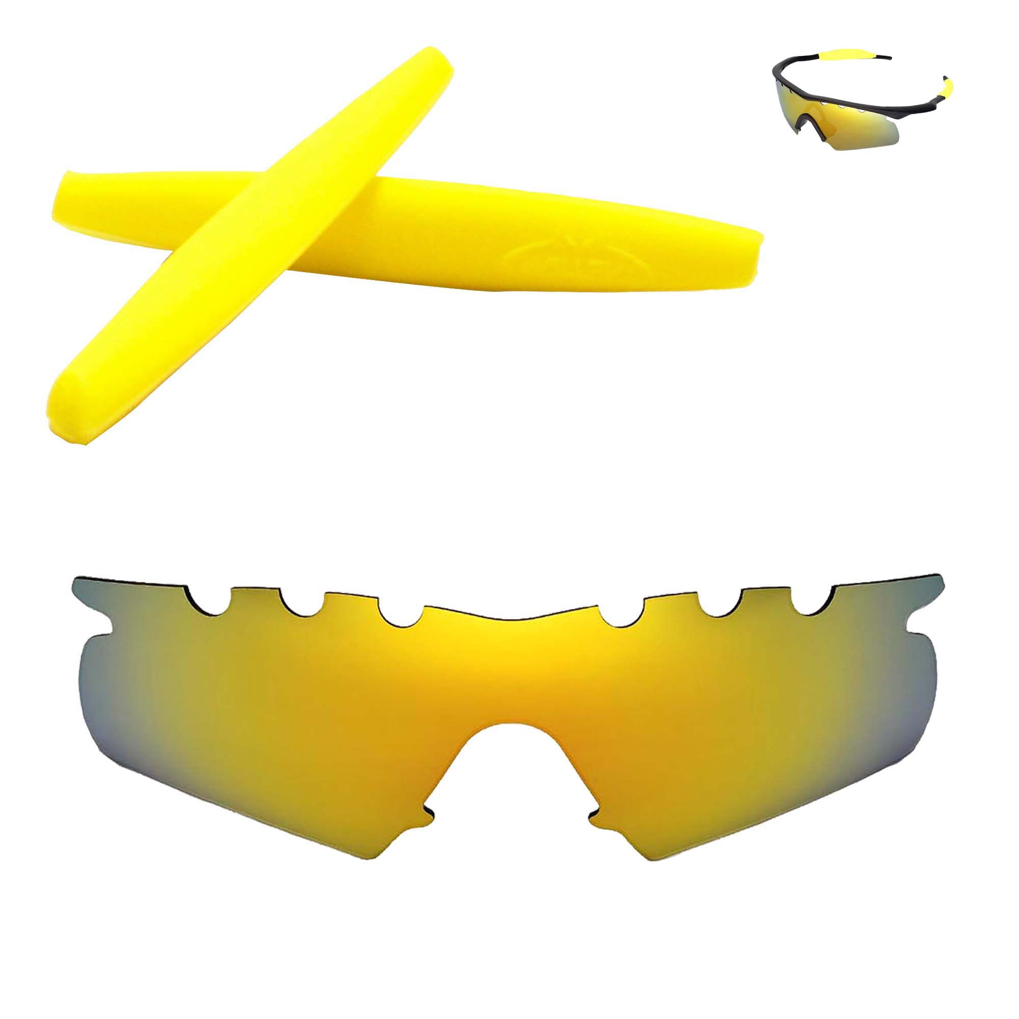 3a9ed7abc78 Details about Polarized 24K Gold Vented Replacement+Yellow Earsocks For Oakley  M Frame Hybrid
