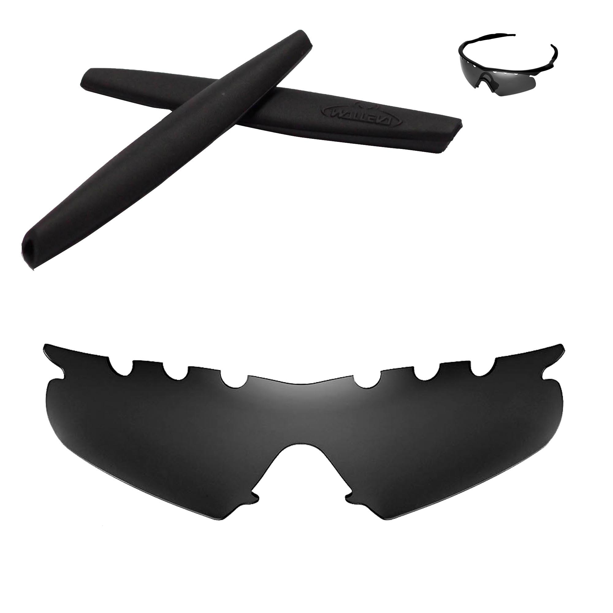 Polarized Black Vented Replacement+Black Earsocks For Oakley M Frame ...