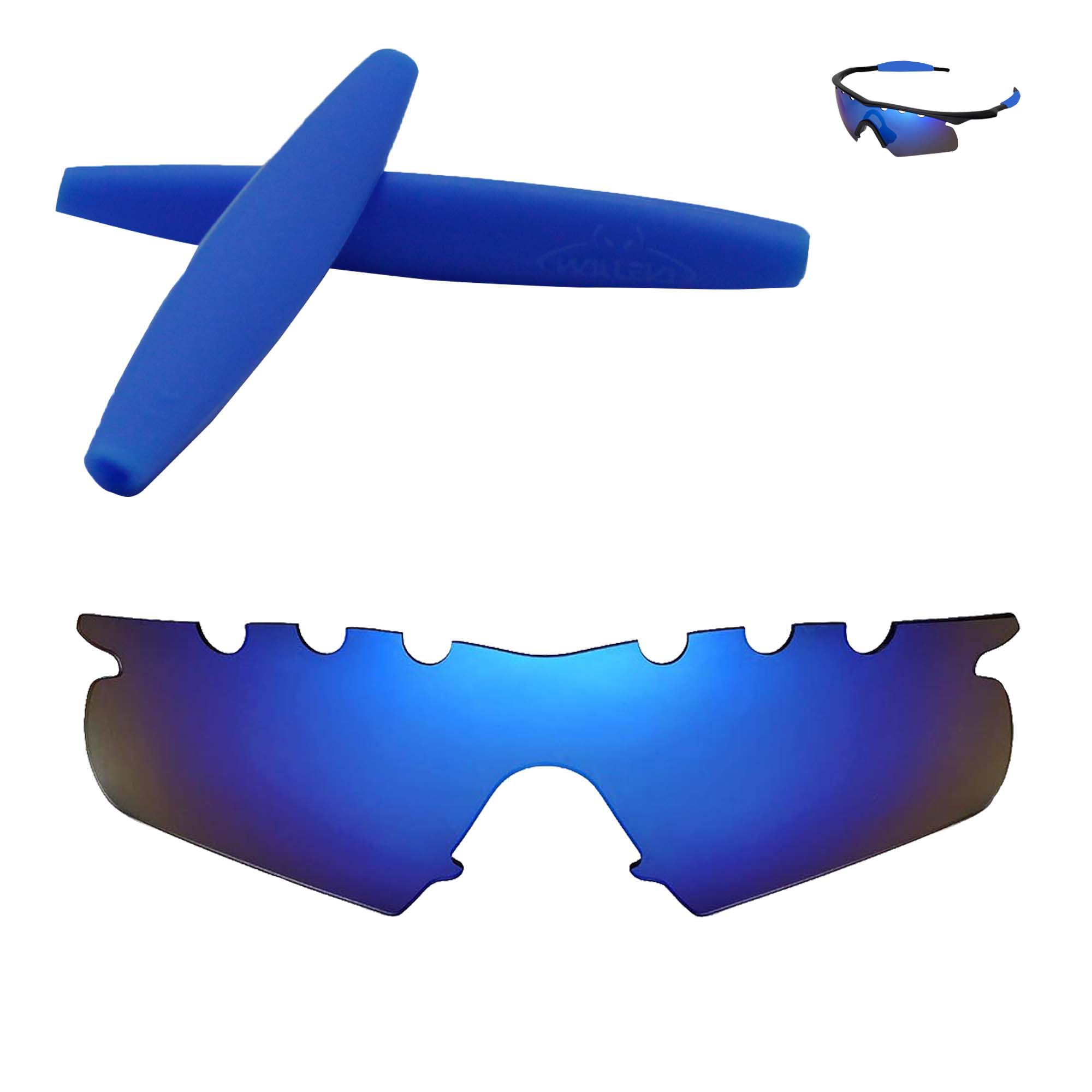 b984e9b9583 Details about Polarized Ice Blue Vented Replacement+Blue Earsocks For  Oakley M Frame Hybrid