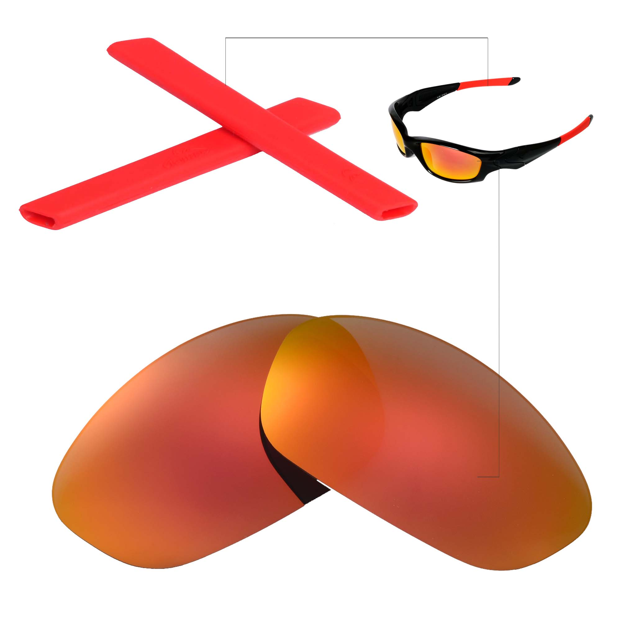 Walleva Lenses and Earsocks for Oakley Straight Jacket - Multiple ...