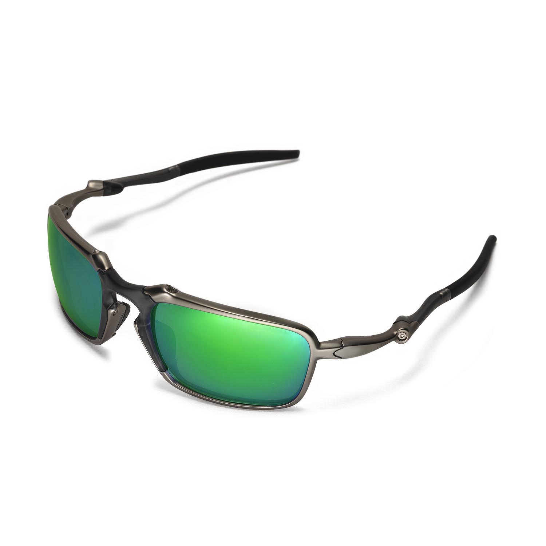 f8e2d9473b ... ebay walleva polarized emerald lenses for oakley badman x1 walleva  microfiber lens cleaning cloth x1 44500
