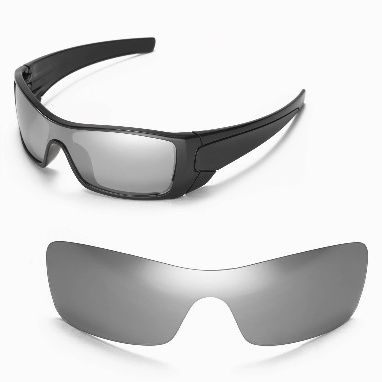 be80dfc06e0 Details about New Walleva Polarized Titanium Replacement Lenses For Oakley  Batwolf Sunglasses