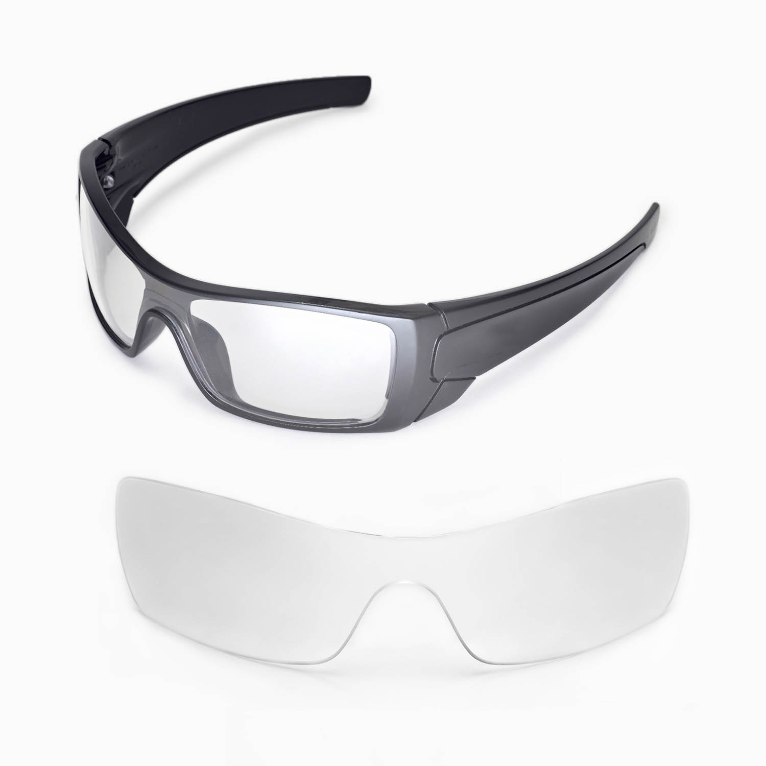 New Walleva Clear Replacement Lenses For Oakley Batwolf Sunglasses ...
