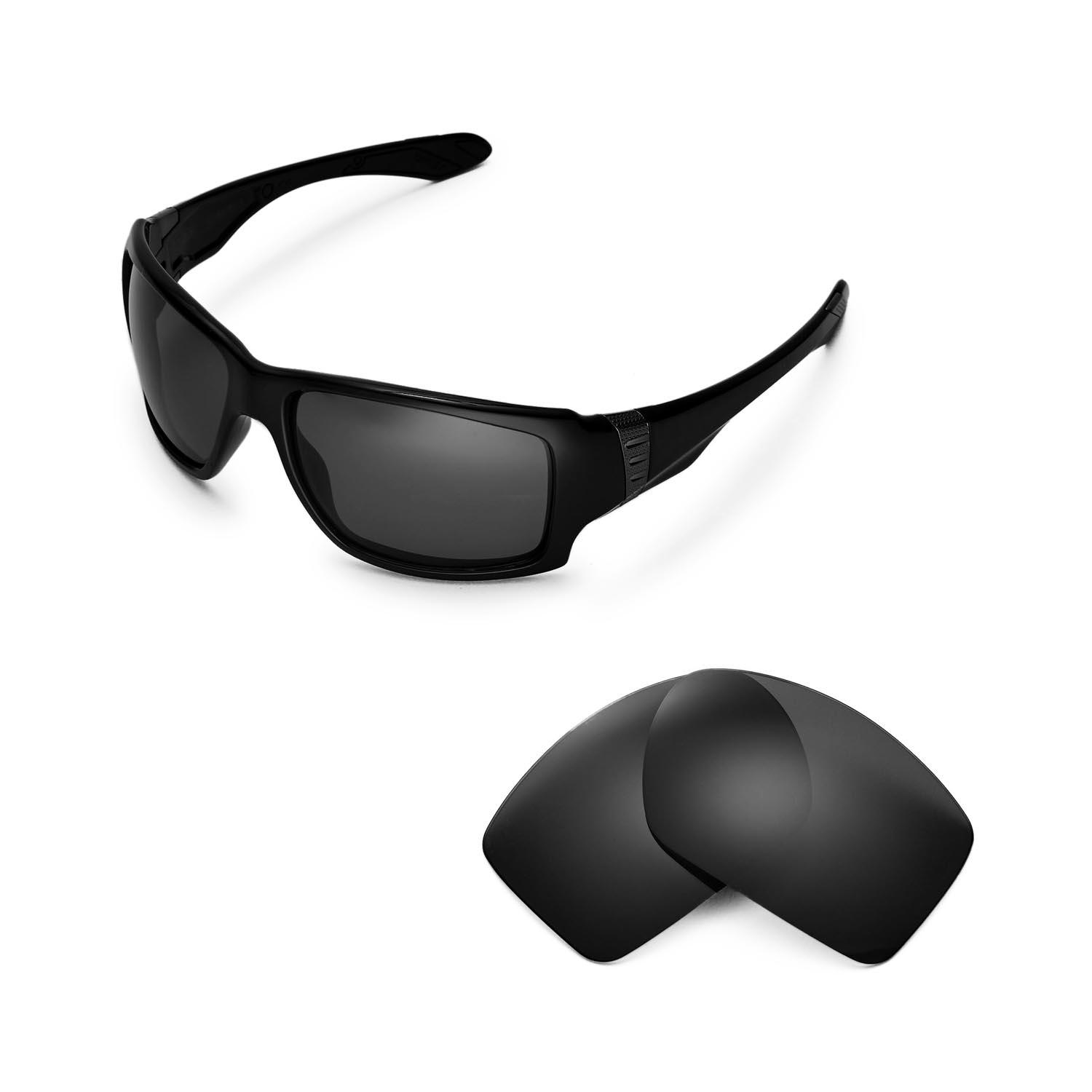 a6314b1cfe3 Details about Walleva Polarized Black Replacement Lenses for Oakley Big Taco  Sunglasses