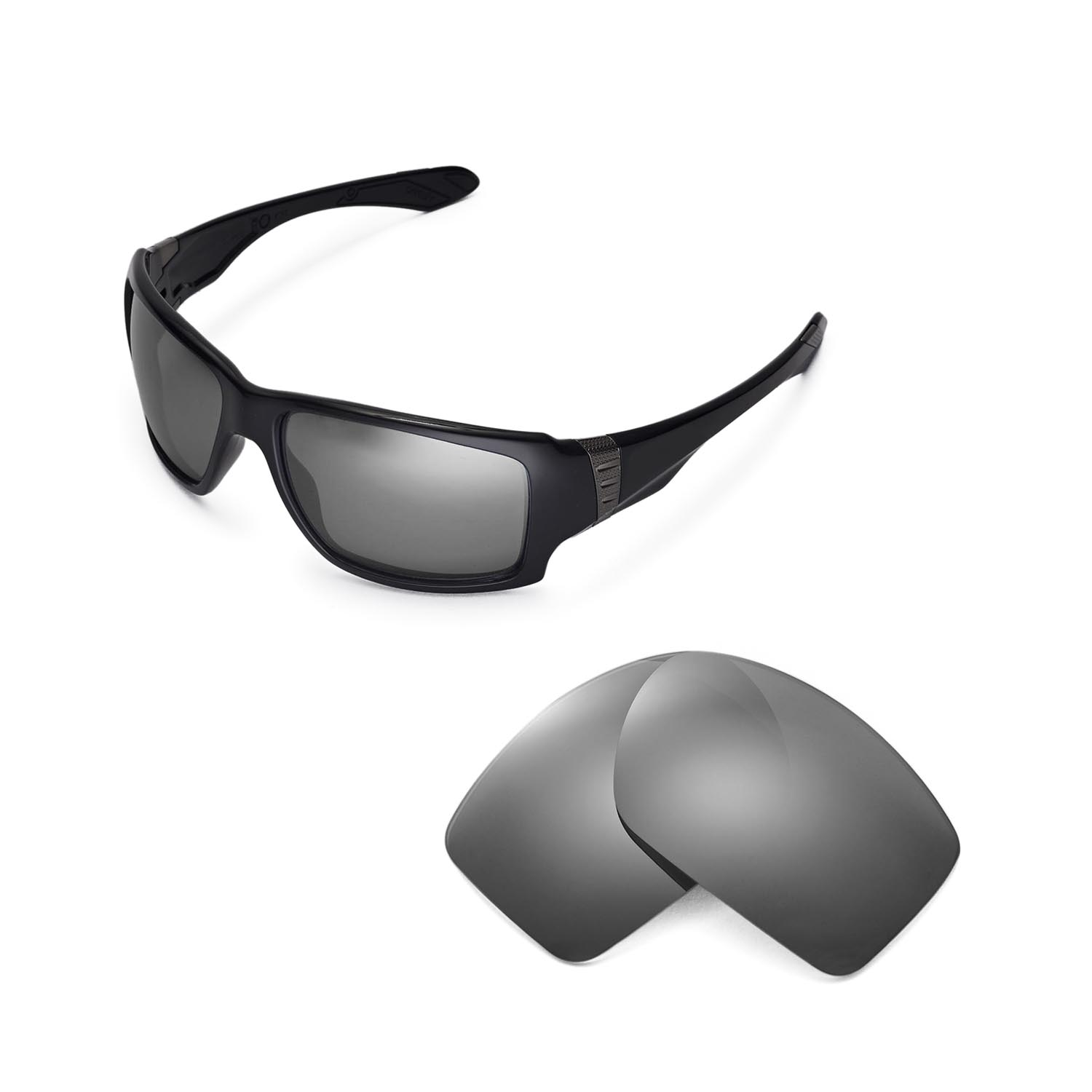 8a1ddcf9d8a Details about New Walleva Polarized Titanium Replacement Lenses For Oakley  Big Taco Sunglasses